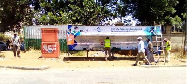 Bus shelters branding company Nairobi Kenya